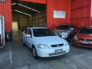 2001 Holden Astra TS Equipe White 4 Speed Automatic Sedan Clontarf Redcliffe Area Preview