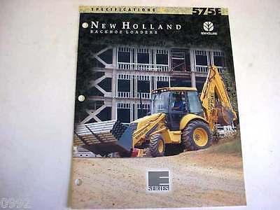New Holland 575e Tractor Loader Backhoe Color Sales Brochure From 1996