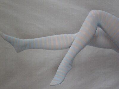 Damenstrumpfhose uni-geringelt orange oder hellblau (Esda)