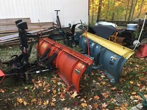 western 9 ft , and ffc 9 ft skidsteer snow plow