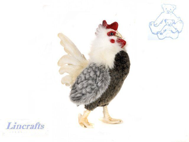 Cockerel or Rooster Plush Soft Toy Bird by Hansa A Cute Chicken. 4198