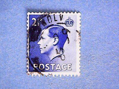 GB. KEVIII 1936 2½d Bright Blue. SG460. Wmk W125. P15 x 14. Used.