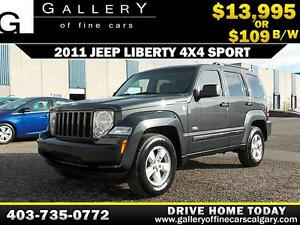 2011 Jeep Liberty Sport 4x4 $109 bi-weekly APPLY NOW DRIVE NOW