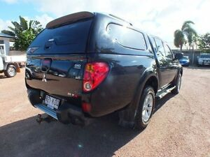 2009 Mitsubishi Triton MN MY10 GLX-R Double Cab Black Mica 5 Speed Sports Automatic Utility Rosslea Townsville City Preview
