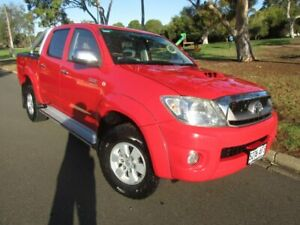 2010 Toyota Hilux KUN26R MY10 SR5 Red 4 Speed Automatic Utility Old Reynella Morphett Vale Area Preview