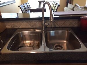 Used stainless steel sink and faucet for sale