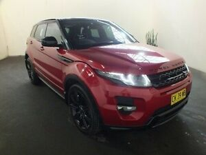 2013 Land Rover Evoque LV MY13 SD4 Dynamic Firenze Red 6 Speed Automatic Wagon Clemton Park Canterbury Area Preview