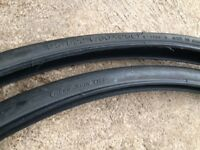 Two barely used road bike tyres for sale (700 x 25C)