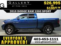 2010 DODGE RAM SPORT LIFTED *EVERYONE APPROVED* $0 DOWN $199/BW!