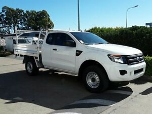 2014 Ford Ranger PX XL Super Cab 4x2 Hi-Rider White 6 Speed Sports Automatic Cab Chassis Acacia Ridge Brisbane South West Preview