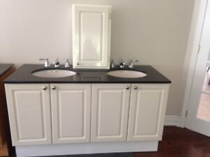 Double vanity with granite counter perfect condition!