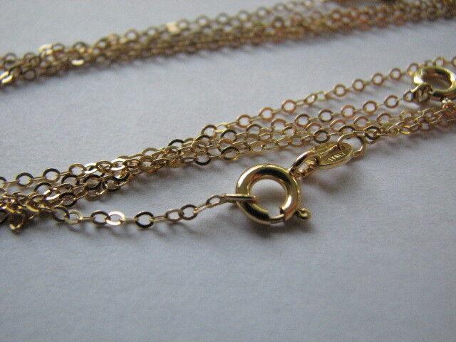 10 pcs 14K Goldfilled Flat Cable Chains 16 inch Fine Link Necklaces Wholesale