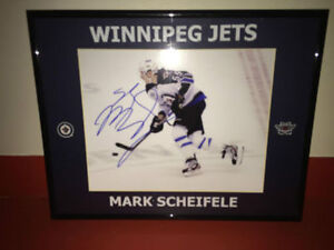 Autographed Signed Framed and Matted Mark Scheifele Picture