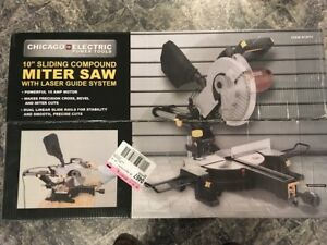 "10"" SLIDING MITER SAW WITH LASER GUIDE SYSTEM, NEW"