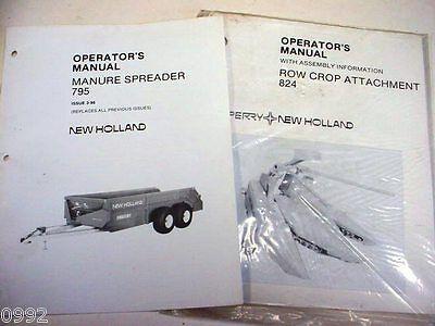 New Holland 795 Manure Spreader 824 Cornhead Manuals