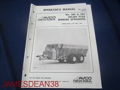 Avco  Avco New Idea 382 384 Solids Plus Manure Spreader Operators Manual 28