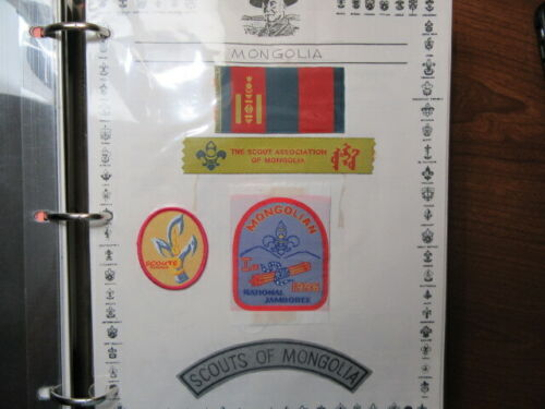 Mongolia Lot of 6 Boy Scout Patches        c27