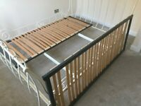 King size double sleigh bed