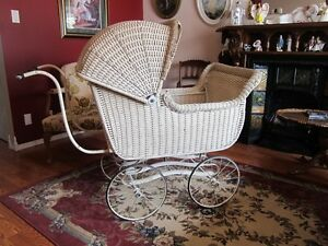 Circa 1930 Wicker Baby Carriage