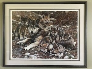 Den Mother Wolf Family Print - Carl Brenders