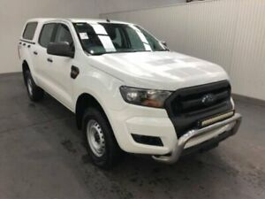 2016 Ford Ranger PX MkII MY17 XL 3.2 (4x4) Cool White 6 Speed Automatic Crew Cab Utility Moonah Glenorchy Area Preview