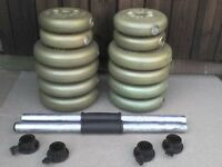 50 lb 22.7 kg Dumbbell Barbell Weights - Heathrow