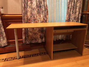 Office Table (Pine) + Free Cabinet in Excellent Condition!