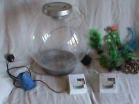 BiOrb 30 litre fish tank and accessories