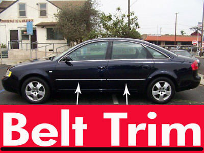 Audi A6 CHROME SIDE BELT TRIM DOOR MOLDING 1998 1999 2000 2001 2002 2003 2004