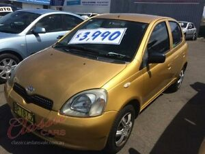2000 Toyota Echo NCP10R Gold 4 Speed Automatic Hatchback Lansvale Liverpool Area Preview