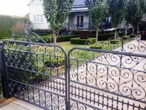 Cornelia Gates Heritage Australian Hand Made Wrought Iron style O Withcott Lockyer Valley Preview