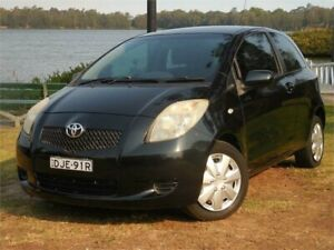 2005 Toyota Yaris NCP91R YRS Black 4 Speed Automatic Hatchback Lansvale Liverpool Area Preview