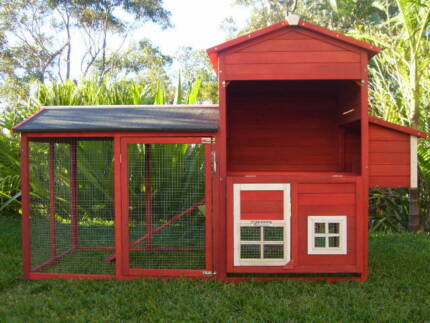 Chicken Rabbit Cat Hutch Cage Coop  Somerzby RED BROWN MANSION Somersby Gosford Area Preview