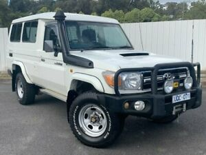 2007 Toyota Landcruiser VDJ78R GXL Troopcarrier White 5 Speed Manual Wagon Lilydale Yarra Ranges Preview