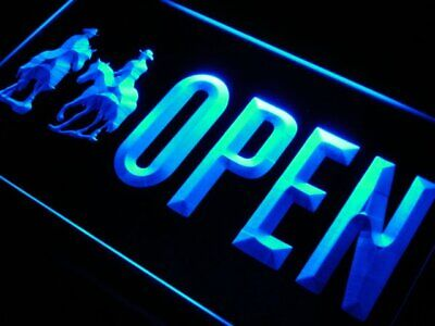 J852-b Open Cowboys Bar Beer Shop Decor Neon Light Sign