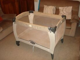 GRACO TRAVEL COT FOR SALE.