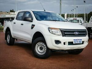 2014 Ford Ranger PX XL Double Cab White 6 Speed Manual Utility Wangara Wanneroo Area Preview
