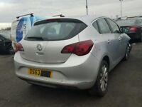 VAUXHALL ASTRA J REAR TAILGATE INC GLASS 2014 2015 USED SILVER BREAKING SPARES PARTS