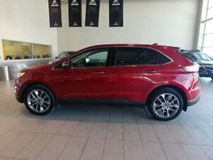 2015 Ford Edge Titanium - B/U Cam, Sunroof, Nav, Heated Leather