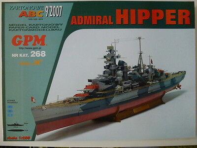 Schwerer Kreuzer Admiral Hipper / mit Spanten / 1:200 gebraucht kaufen  Heideblick