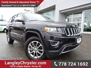 2016 Jeep Grand Cherokee Limited ACCIDENT FREE w/ V8 POWER, 4...