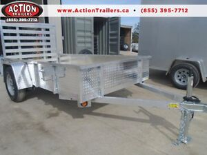 All purpose utility trailer - aluminum frame 5 x 10' BUY NOW