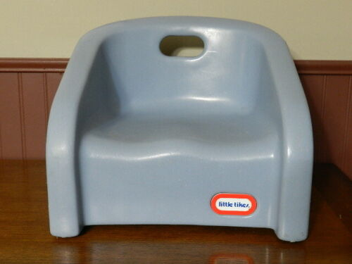 Vintage Little Tikes Blue Booster Seat Chair with Handle, Blue