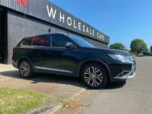 2015 Mitsubishi Outlander ZK MY16 XLS 2WD Black 6 Speed Constant Variable Wagon