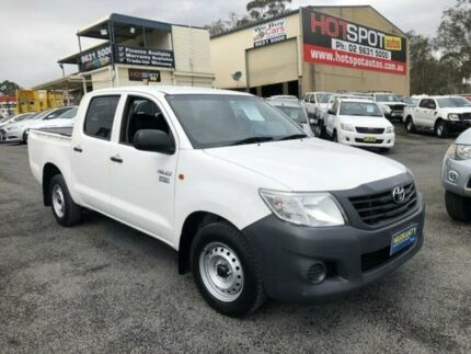 2014 Toyota Hilux TGN16R MY14 Workmate White 4 Speed Automatic 2D ...