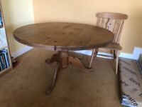 Kitchen/Dining table & six chairs.