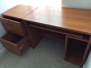 study desk, filing cabinet, printer stand
