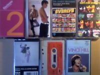 A-Z ELECTRONIC, EVERYTHING BTG, EVERLY, HALL & OATES, HENDRIX, VINCE HILL PRERECORDED CASSETTE TAPES
