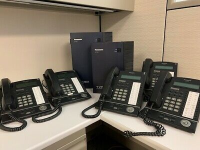 Complete Panasonic System Tda50 Hybrid Ip Pbx Tva50 Vm 5 Kx-t7630 Phones
