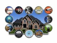 Whole home audio and home alarm system service